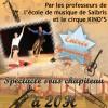 Spectacle des professeurs de l'école de musique SALBRIS avec le cirque KINO'S